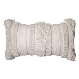 "Better Homes & Gardens, Natural Fringe & Textured Oversized Oblong Decorative Throw Pillow, 14""...   Walmart (US)"