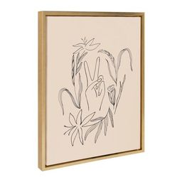 Kate and Laurel Sylvie Peace Then Waves Framed Canvas Wall Art By Kate Aurelia Holloway, 18x24 Go...   Walmart (US)