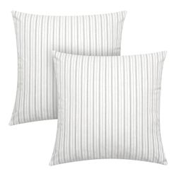 """Better Homes & Gardens Feather Filled Woven Dashed Stripe Decorative Throw Pillows, 20""""x20"""", Blac...   Walmart (US)"""