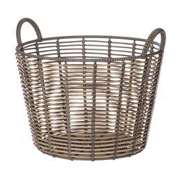Better Homes & Gardens Round Rattan and Iron Storage Basket, Small   Walmart (US)