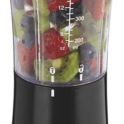 Hamilton Beach Personal Blender for Shakes and Smoothies with 14 Oz Travel Cup and Lid, Black (51...   Amazon (US)