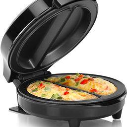 Holstein Housewares Omelet Maker, Makes 2, Black   Amazon (US)