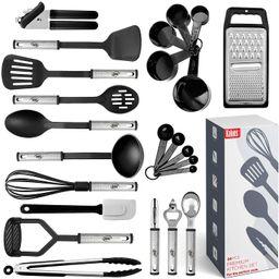 Kitchen Utensil Set 24 Nylon and Stainless Steel Utensil Set, Non-Stick and Heat Resistant Cookin...   Amazon (US)
