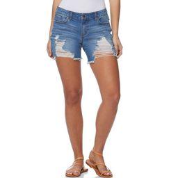 Sofia Jeans by Sofia Vergara Women's Lila Mid-Rise Destructed Hem Shorts   Walmart (US)
