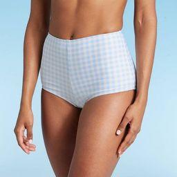 Women's Gingham Bikini Bottom - Kona Sol™ Blue | Target