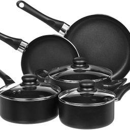 Amazon Basics Non-Stick Cookware Set, Pots and Pans - 8-Piece Set   Amazon (US)
