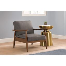 Better Homes & Gardens Mid Century Chair, Adjustable Position, Wood with Linen Upholstery, Gray   Walmart (US)