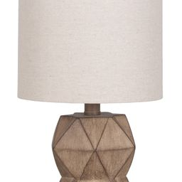 """Better Homes & Gardens Brown Weathered Wood 15.75"""" Grab N Go Accent Lamp with LED Bulb Included   Walmart (US)"""