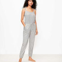 Striped Bow Strap Pajama Romper | LOFT