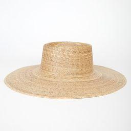 Palma Natural Beige Wide-Brimmed Boater Hat   Lulus (US)