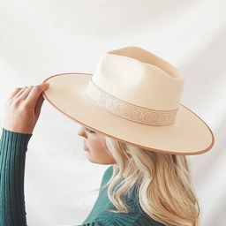 Rancher Blush and Ivory Special Wool Fedora Hat   Lulus (US)