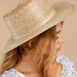 Palma Natural Boater Hat   Red Dress