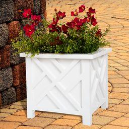 Box Planter - White by Pure Garden   Walmart (US)