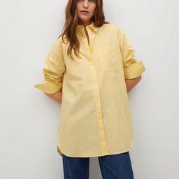 Oversized Popeline-Hemd | MANGO (DE)