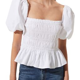 Bubble Sleeve Smocked Blouse | Nordstrom