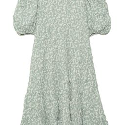 Everlyn Puff Sleeve Tiered Dress in Mint | Hampden Clothing