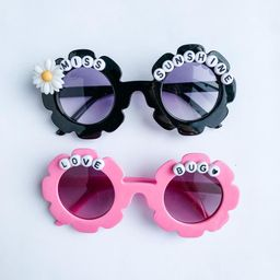 NEW Personalized Sunglasses/ Custom Word Sunglasses/ Flower Embellishment Sunglasses/ Dearly Made...   Etsy (US)