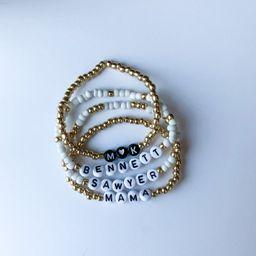 GOLD- Personalized Beaded Name Bracelets/ Customized Word Bracelet/ Name Bracelet/ Dearly Made Sh...   Etsy (US)