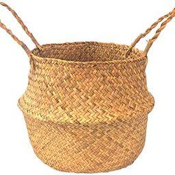Woven Basket | Seagrass Baskets | Seagrass Storage Baskets | Rattan Baskets | Belly Basket for St... | Amazon (US)