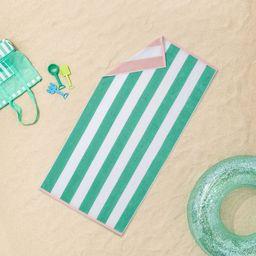 Reversible Cabana Striped Beach Towel - Sun Squad™   Target