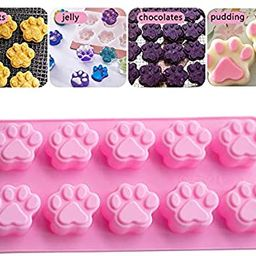 AITINIA 2021 Newest Silicone Molds, Cute Paw and Bone Dog Treat Molds Non-stick Natural Food Grad...   Amazon (US)