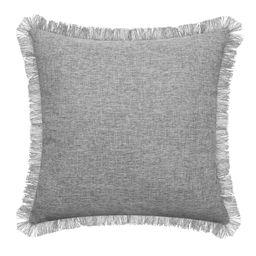 "Mainstays Frayed Edge Decorative Throw Pillow, 18x18"", Grey   Walmart (US)"