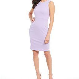 Scuba Crepe Sleeveless Sheath Dress | Dillards