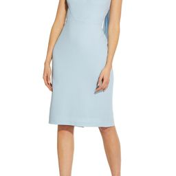 Crepe Tie Back Sheath Dress | Nordstrom