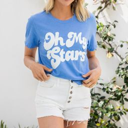 Oh My Stars Heather Royal Blue Graphic Tee   The Mint Julep Boutique
