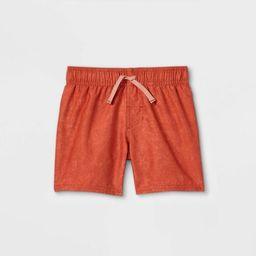 Toddler Boys' Swim Shorts - Cat & Jack™ Rust | Target