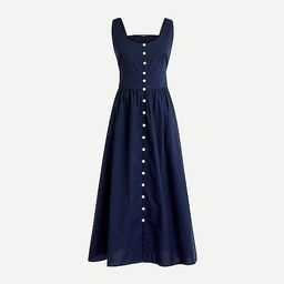 Button-front cotton poplin dress | J.Crew US