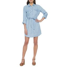 a.n.a. Womens 3/4 Sleeve Shirt Dress | JCPenney