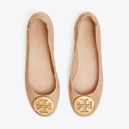 Minnie Travel Ballet Flat, Quilted Leather | Tory Burch (US)