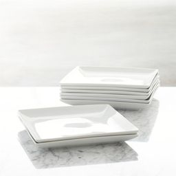 Set of 8 Court Dinner Plates + Reviews | Crate and Barrel | Crate & Barrel
