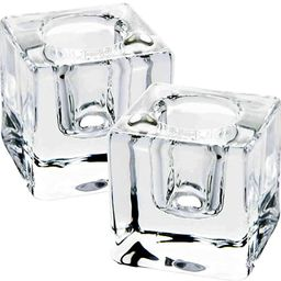AGLARY Square Glass Candle Holder Set of 2 , Ideal Gift for Dining Table, Wedding, Christmas and ... | Amazon (US)