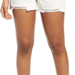 Ripped White Denim Shorts | Nordstrom