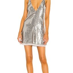 Double Take Sequin Mini Dress in Silver Shimmer | Revolve Clothing (Global)