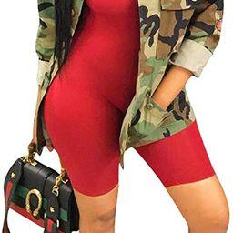 Antique Style Womens Spring Fall Fashion Long Sleeve Safari Jackets Military Camo Printed Coats O... | Amazon (US)