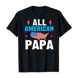 All American Papa 4th of July USA Family Matching Outfit T-Shirt | Amazon (US)
