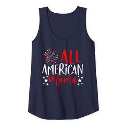 Womens 4th of July Family Matching Shirts All American Mama Tank Tank Top | Amazon (US)