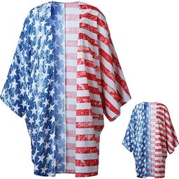 QPANCY Mommy and Me 4th July Cover Ups USA Flag Coverups Swimsuits Beach Shirts | Amazon (US)