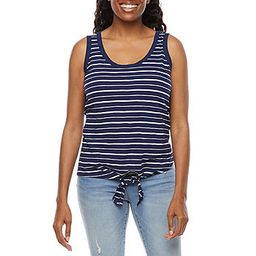 St. John's Bay-Tall Womens Tie Front Tank Top   JCPenney