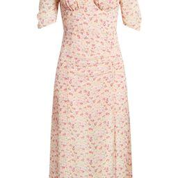 Floral Milkmaid Midi Dress   Nordstrom