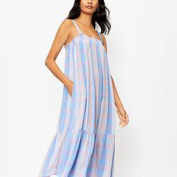 Plaid Smocked Pocket Midi Dress | LOFT | LOFT