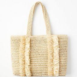 Fringed Straw Tote Bag | LOFT | LOFT