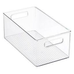 iDesign Clear Linus Deep Stackable Plastic Bin | The Container Store