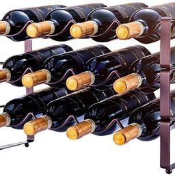 3 Tier Stackable Wine Rack Water Bottle Holder Organizer, Countertop Cabinet Wine Storage Stand -...   Amazon (US)