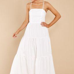 How She Feels White Midi Dress   Red Dress
