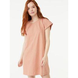 Free Assembly Women's Flutter Sleeve T-Shirt Dress | Walmart (US)