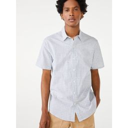 Free Assembly Men's Short Sleeve Point Collar Shirt | Walmart (US)